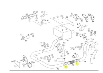 Abraçadeira do Flexível do Escapamento - Original Mercedes-Benz - A9794920540 - Unitário