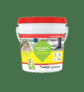 Impermeabilizante Manta Liquida Branca 18kg - Quartzolit - 31113.02.34.053 - Unitário