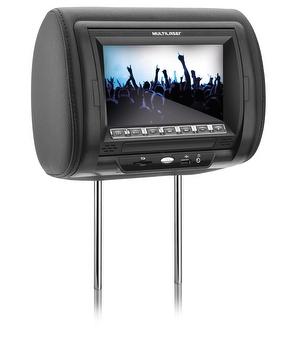 Encosto de Cabeça Automotivo com DVD - Multilaser - AU302 - Unitário