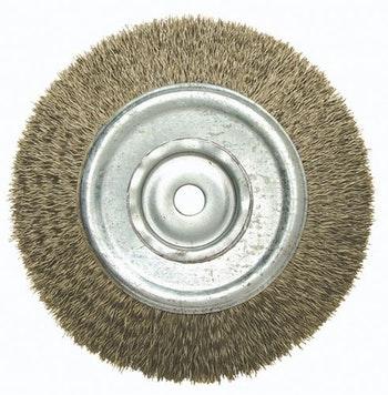 Escova Circular 150x19mm Fio 0,40mm 6000Rpm - Abrasfer - T.7000-OND.150X19 - Unitário