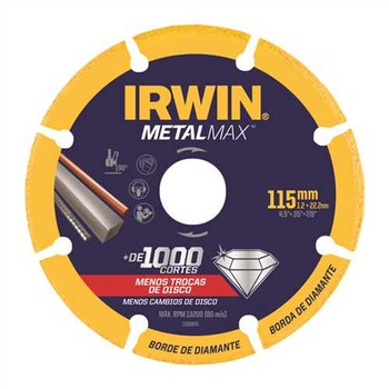 Disco de Corte Diamantado para Metais 230x2,1x22mm P/aço, Inox Metalmax - Irwin - 1998847 - Unitário