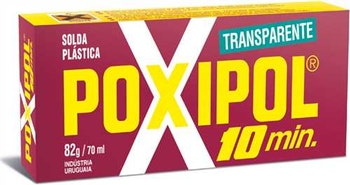 Adesivo Epóxi Poxipol 10min Pastoso Transparente 82g - Poxipol - 82 - Unitário