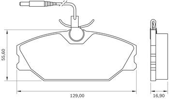 Pastilha de Freio - BB 391-A - Bosch - 0986BB0100 - Par
