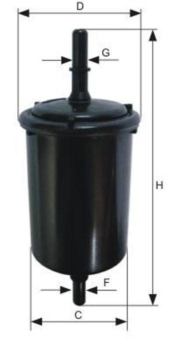 Filtro Blindado do Combustível - Mann-Filter - WK58/1 - Unitário