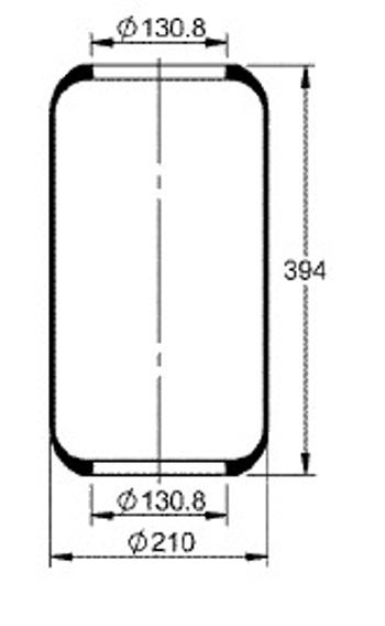 Fole Cilíndrico - Contitech - 76191 - Unitário
