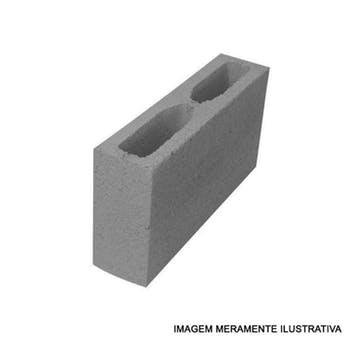 Bloco Estrutural de Concreto Aparente 9 x 19 x 39cm - Distribuidor Regional - BEA091939 - Unitário