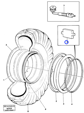 Alça de Fechamento da Roda - Volvo CE - 4789993 - Unitário