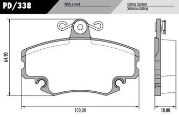 Pastilha de freio - Fras-le - PD/338 - Par