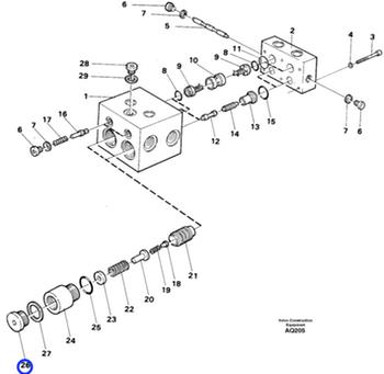 Bujão - Volvo CE - 942352 - Unitário