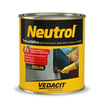 Tinta Asfáltica Neutrol 900ml - Vedacit - 112133 - Unitário