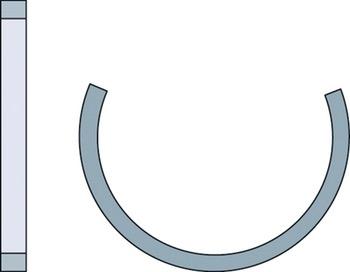 Anel de bloqueio - SKF - FRB 5/250 - Unitário