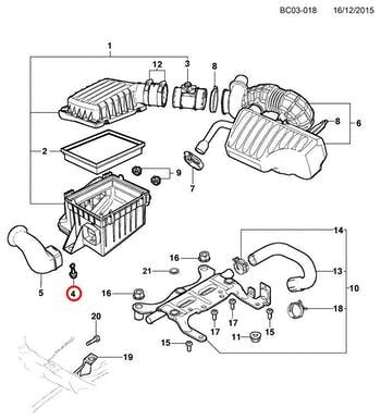 Coxim do Filtro de Ar - Original Chevrolet - 09129705 - Unitário
