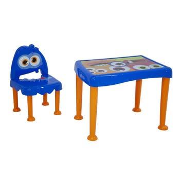 Conjunto Infantil Monster em Polipropileno Azul - Tramontina - 92485390 - Unitário