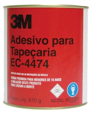 Adesivo de Contato Industrial para Tapeçaria 670g EC-4474 - 3M - H0000499758 - Unitário