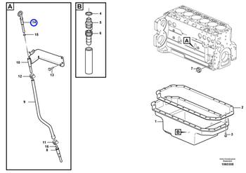 Vareta de Nível - Volvo CE - 24425848 - Unitário