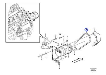 Correia Trapezoidal do Compressor - Volvo CE - 977525 - Unitário