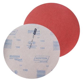 Disco de lixa massa A257 grão 150 230mm s/ furo - Norton - 77696068006 - Unitário