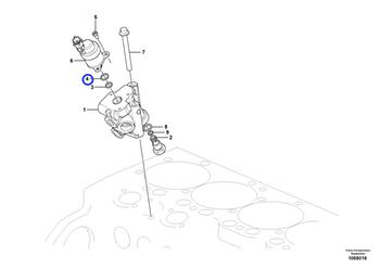 Anel O da Válvula Solenóide do Regulador de Combustível - Volvo CE - 21670190 - Unitário