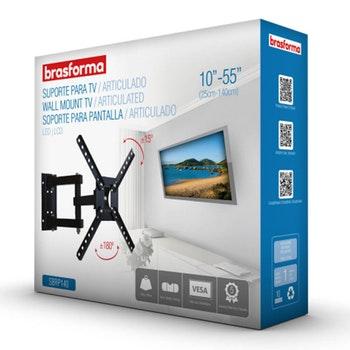 """Suporte Articulado para TV LED, LCD, Plasma, 3D e Smart TV de 10"""" a 55"""" - SBRP 140 - Brasforma - 1069209 - Unitário"""