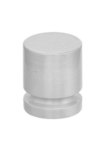 """Puxador Ponto 550 Alumínio Acetinado 1"""" Pauma"""