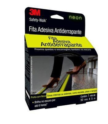 Fita Antiderrapante Safety-Walk Neon 50mm x 5m - 3M - H0002224485 - Unitário