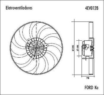 Eletroventilador - Valeo - 4EV012B - Unitário