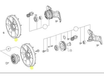 Ventilador - Original Mercedes-Benz - A0032053606 - Unitário