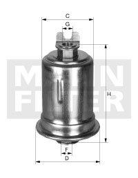Filtro Blindado do Combustível - Mann-Filter - WK614/36x - Unitário