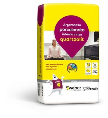 Argamassa Porcelanato Interno Cinza 20kg Embalagem Plástica - Quartzolit - 0102.00001.0020PL - Unitário