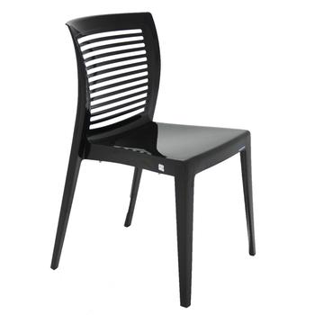 Cadeira Tramontina Victória Preta sem Braços com Encosto Vazado Horizontal em Polipropileno - Tramontina - 92041009 - Unitário