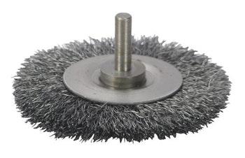 Escova Circular 75x6x6mm Fio 0,20mm 15000Rpm - Abrasfer - 7150-A - Unitário
