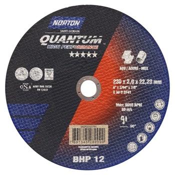 Disco de corte Quantum 230x2,0x22,23mm - Norton - 66252803784 - Unitário