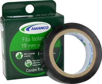 Fita Isolante 19mm x 10m - Amanco - 90124 - Unitário