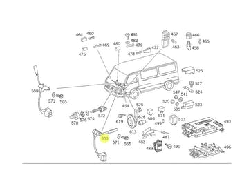 Chave de Seta - Original Mercedes-Benz - A6315400044 - Unitário