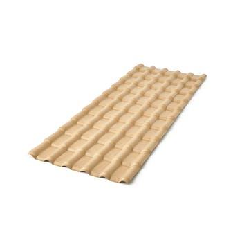 Telha de PVC Plan Marfim 2,42 x 0,88m - Precon - 23029242 - Unitário