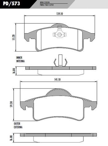 Pastilha de freio - Fras-le - PD/573 - Par