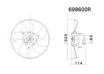 Eletroventilador - Valeo - 698600R - Unitário