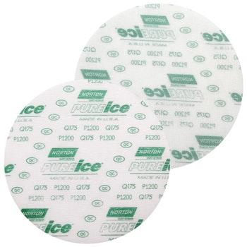 Disco de lixa microfina - Ice Q175 grão 1200 152mm s/ furo - Norton - 77696088715 - Unitário