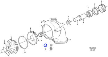 Kit de Reparo da Bomba de Água - Volvo CE - 85107763 - Unitário