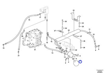 Acumulador - Volvo CE - 17262258 - Unitário