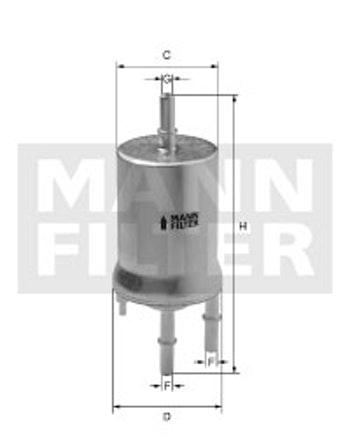 Filtro Blindado do Combustível - Mann-Filter - WK69/2 - Unitário