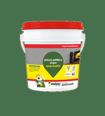 Impermeabilizante Pintura Asfáltica Acqua 18L - Quartzolit - 33583.02.34.056 - Unitário