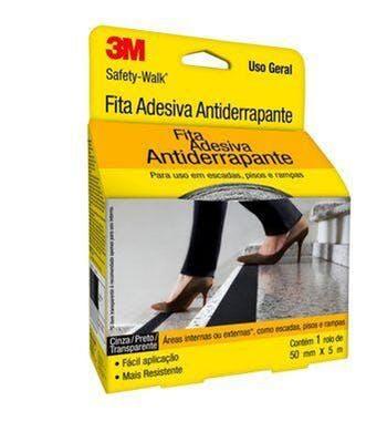 Fita Antiderrapante Safety-Walk Transparente 50mm x 5m - 3M - H0001912460 - Unitário