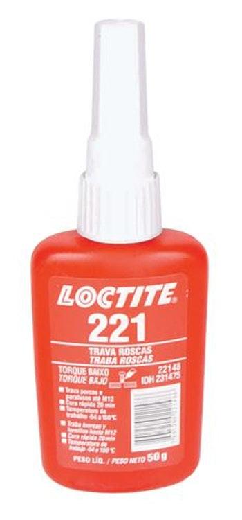 Adesivo Anaeróbico Trava Rosca 221 50g - Loctite - 231475 - Unitário