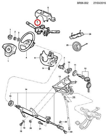 Chave de Seta - Original Chevrolet - 94749142 - Unitário