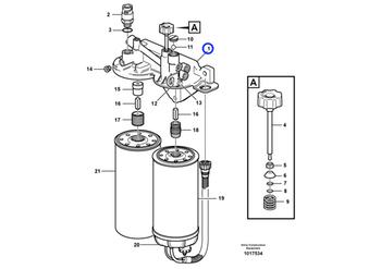 Alojamento Filtro Combustível - Volvo CE - 20786708 - Unitário