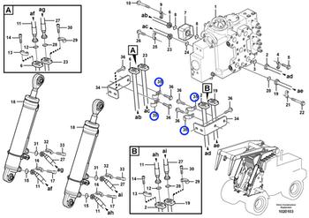 Abraçadeira do Sistema Hidráulico - Volvo CE - 11075841 - Unitário