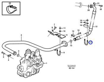 Abraçadeira do Sistema Hidráulico - Volvo CE - 11015221 - Unitário