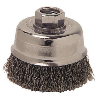 Escova Copo Aço Ondulado 75mm M14 Fio 0,35mm 14000Rpm - Weiler - 13242 - Unitário
