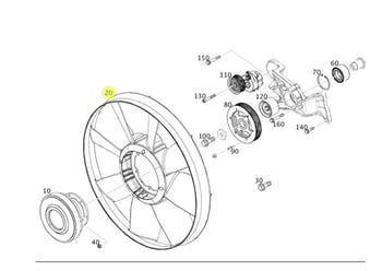 Hélice do Ventilador - Original Mercedes-Benz - A0032054506 - Unitário